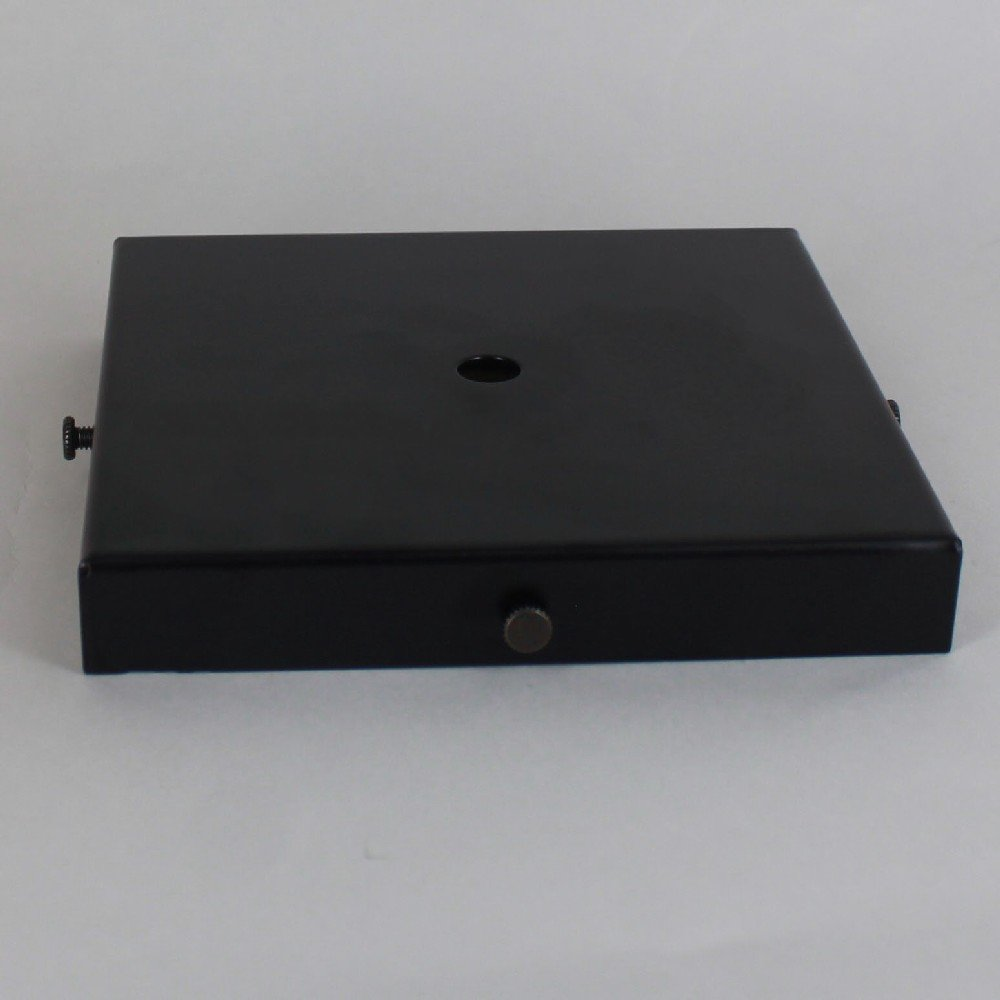 BLACK POWDER COATED SCREW LESS FACE MOUNT CANOPY