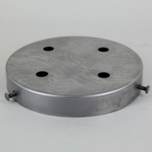 4-HOLE MULTIPORT UNFINISHED STEEL SCREW LESS FACE MOUNT CANOPY.