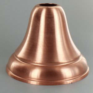 UNFINISHED COPPER SPUN DEEP BELL CANOPY WITH 1-1/16 SLIP THROUGH HOLE