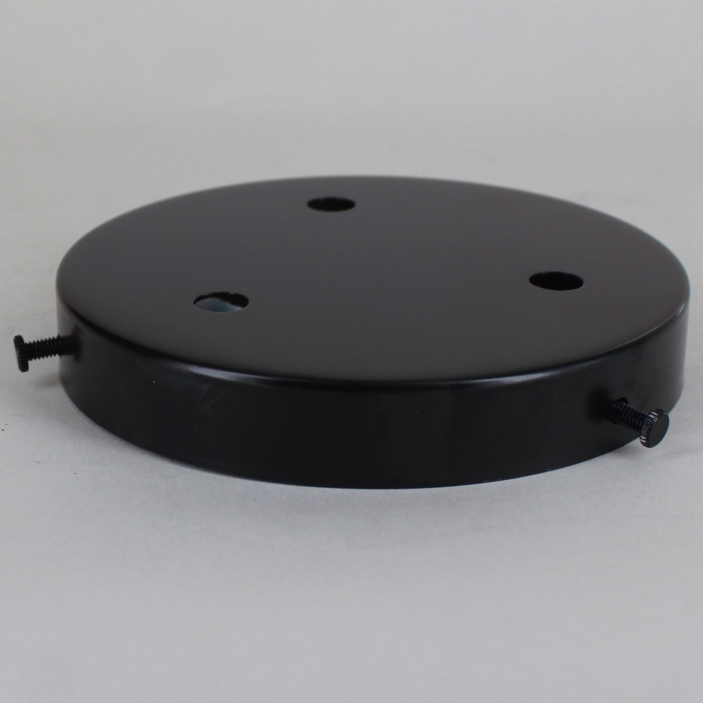 3-HOLE MULTIPORT BLACK POWDER COATED FINISH SCREW LESS FACE MOUNT CANOPY