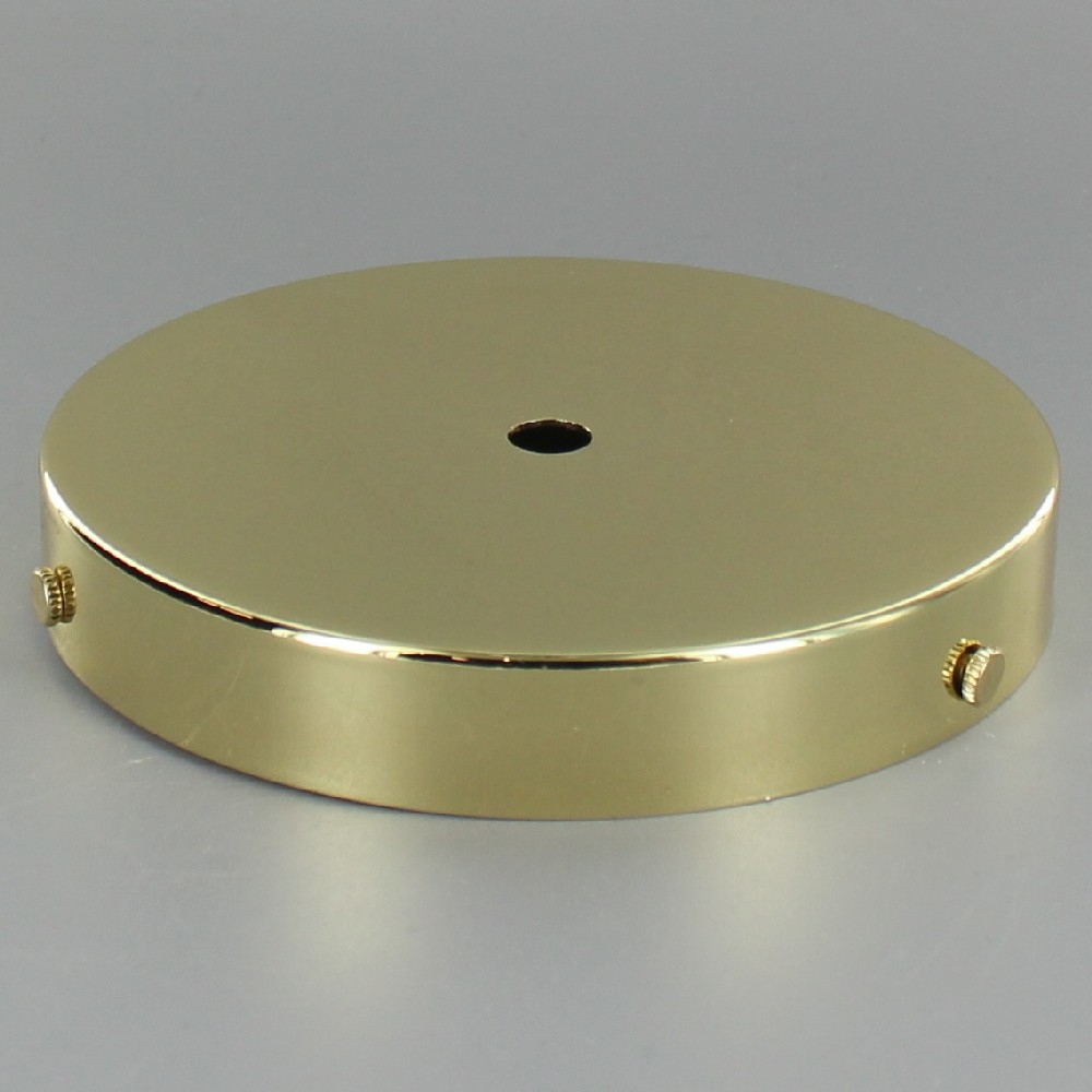 BRASS PLATED FINISH SCREW LESS FACE MOUNT CANOPY