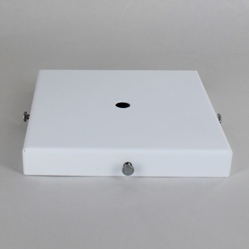 WHITE POWDER COATED SCREW LESS FACE MOUNT CANOPY