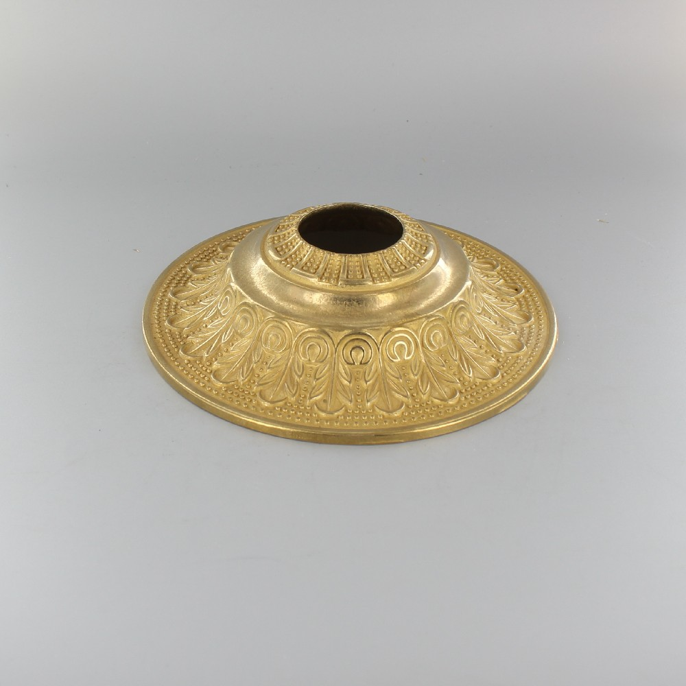UNFINISHED BRASS CAST BRASS INDIAN CEILING CANOPY WITH 1-13/32 SLIP THROUGH HOLE